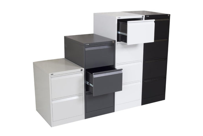 Go Vertical 3 Drawer Filing Cabinet - White China