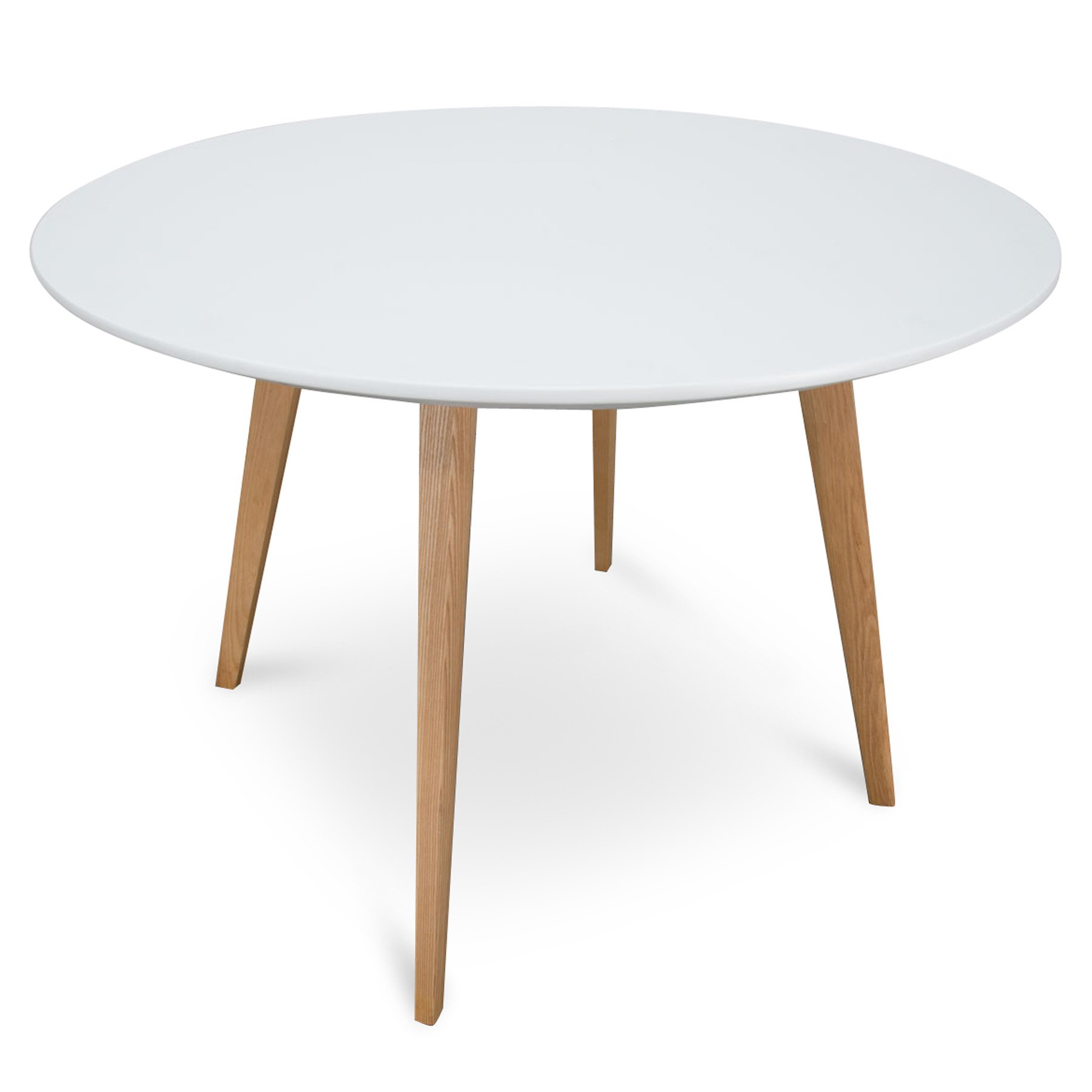 Halo 9cm Round Wooden Dining Table   White   Natura..   Interior ...