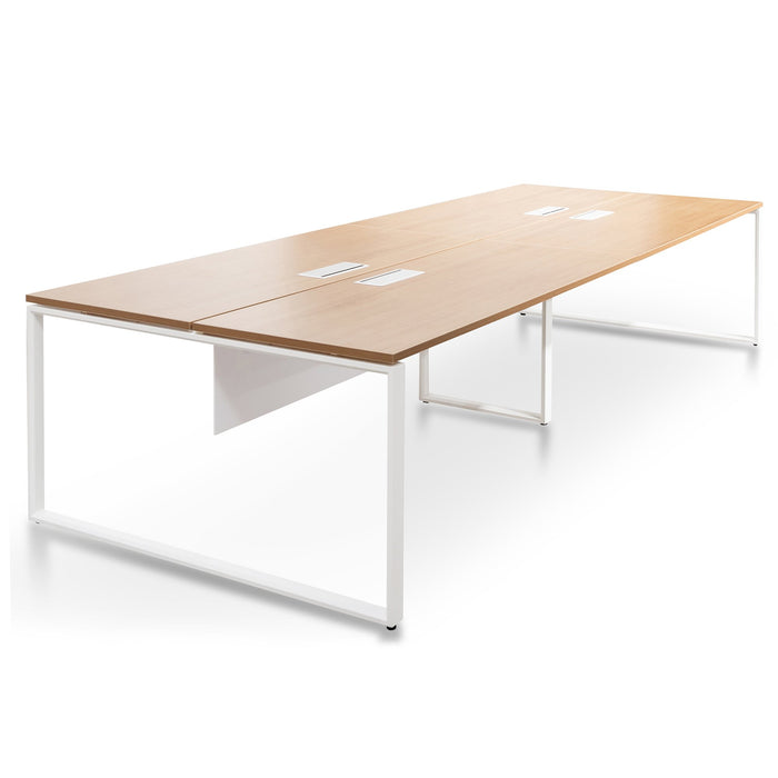Halo 4 Person Workstation - Natural - White