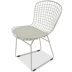 Hank Bertoia Dining Chair -White Cushion