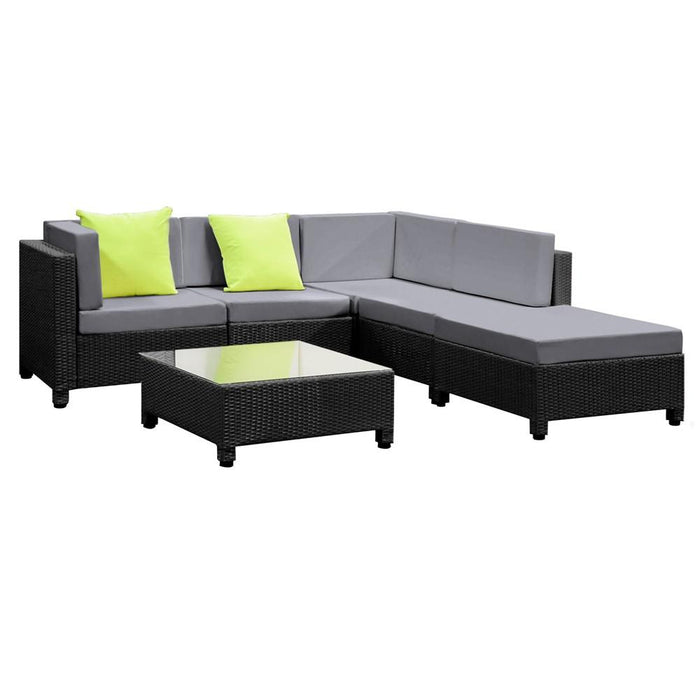 Havana 6 Piece  Outdoor Lounge Set - Grey