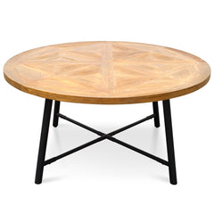 Hayes 1.5m Recycled Elm Wood Round Dining Table
