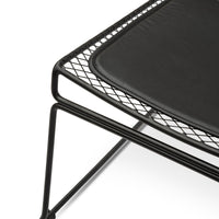 Heath Lounge Chair with PU Seat Pad - Black Frame