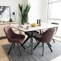 Helga Rectangular 4 Seater Dining Table