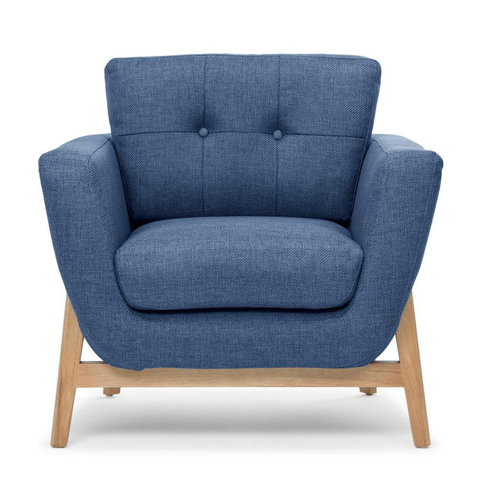 Helgrim Armchair - Navy Blue