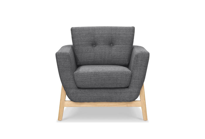 Helgrim Fabric Armchair - Metal Grey