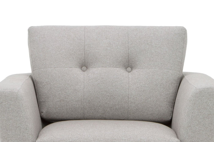 Helgrim Fabric Armchair - Stone Grey