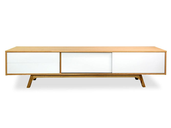 Hendrix 2.1m Entertainment TV Unit - Natural