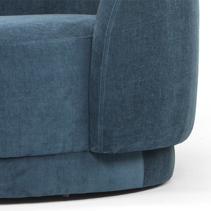 Henry 3 Seater Fabric Sofa - Dusty Blue