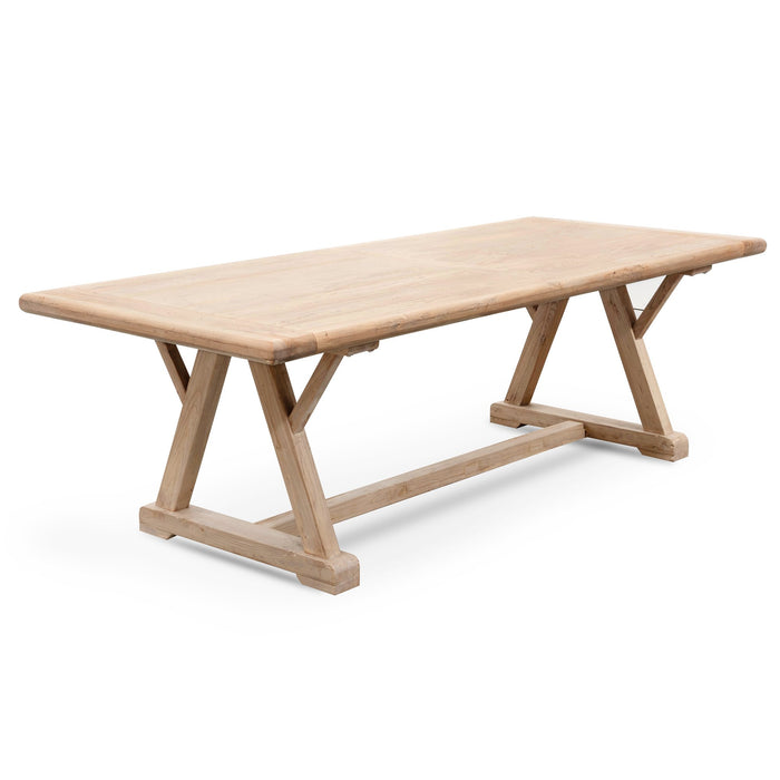 Hercules 8 Seater Reclaimed Elm Wood 2.4m Dining Table