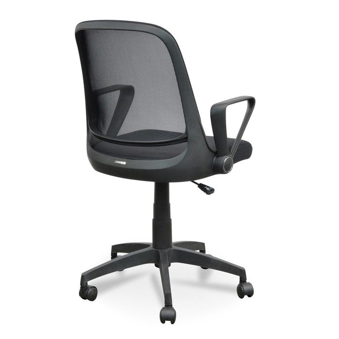 Heston Fabric Office Chair - Full Black