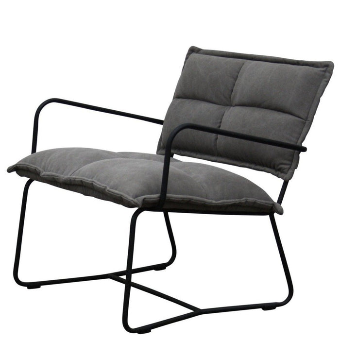 Hilo Canvas Fabric Armchair - Charcoal