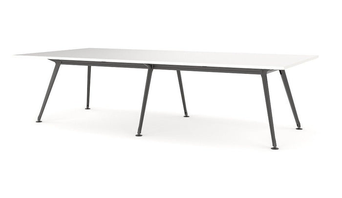 Horizon Boardroom Office Table 3.6m - Black Legs