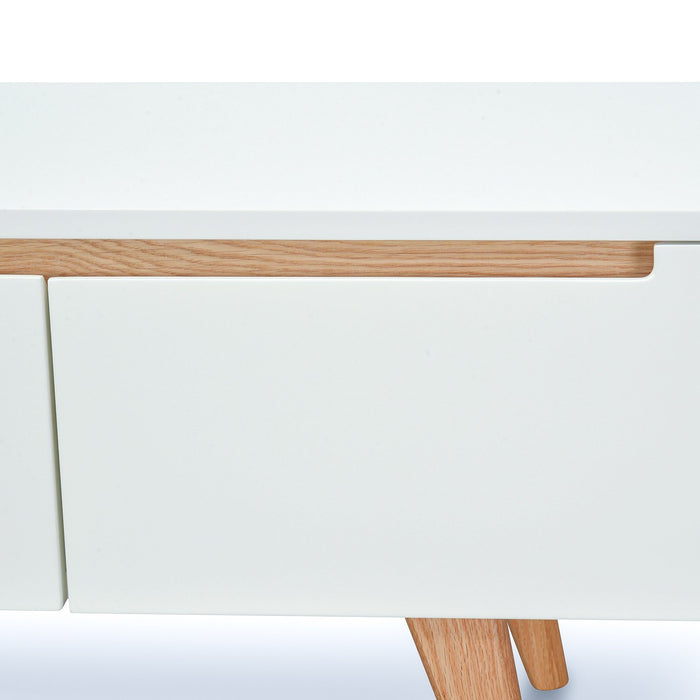 Hugo 1.8m Scandinavian TV Unit - White