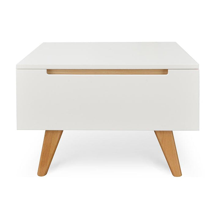 Hugo Scandinavian Side Table - White