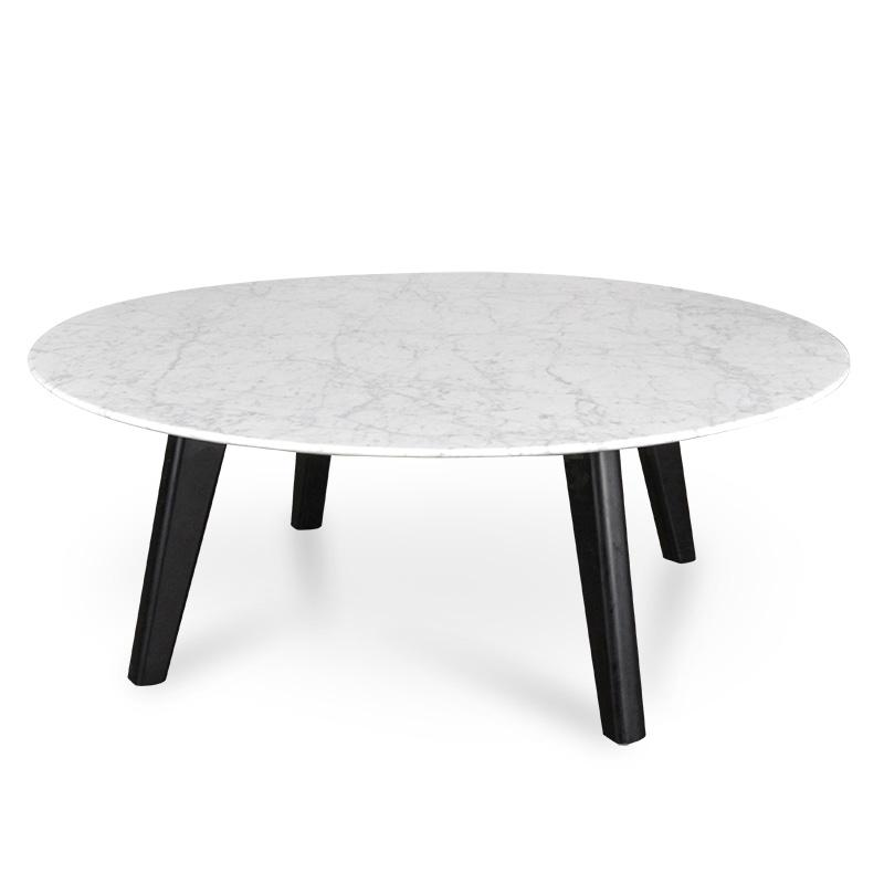 Hunter 100cm Marble Coffee Table With Black Legs Interior Secrets