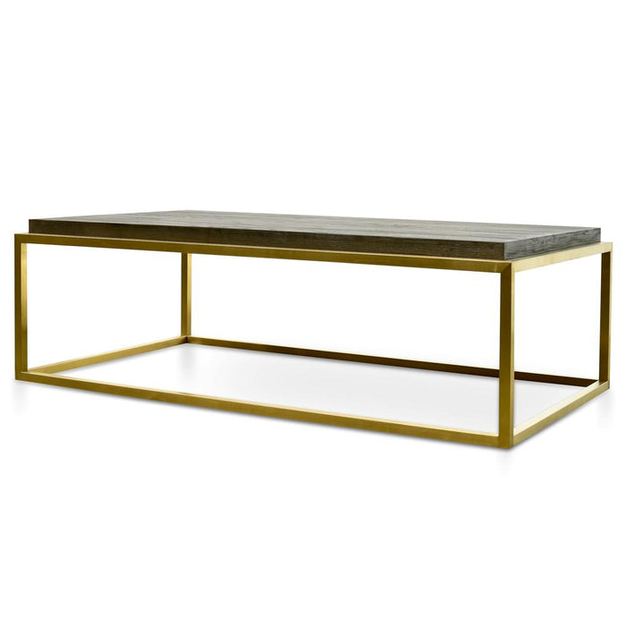Ian 140cm Coffee Table - Black - Golden