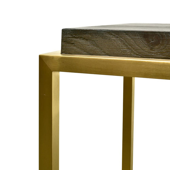 Ian Console Table - Black - Golden