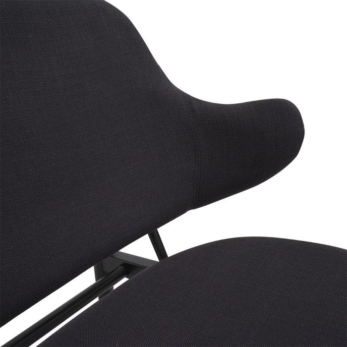 IB Kofod Larsen Lounge Chair Replica in Black With Black Frame