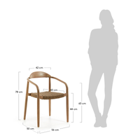 Glynis Eucalyptus Timber Dining Chair - Beige