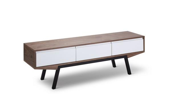 Emerson Scandinavian 160cm TV Entertainment Unit - Walnut