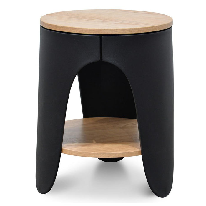 Jackson Side Table - Natural - Black