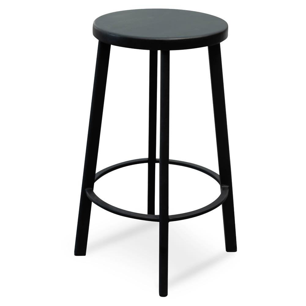 Admirable James 65Cm Timber Seat Bar Stool Black Spiritservingveterans Wood Chair Design Ideas Spiritservingveteransorg