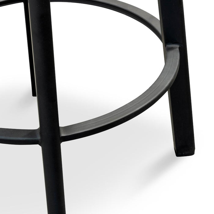 James 65cm Timber Seat Bar Stool  - Black