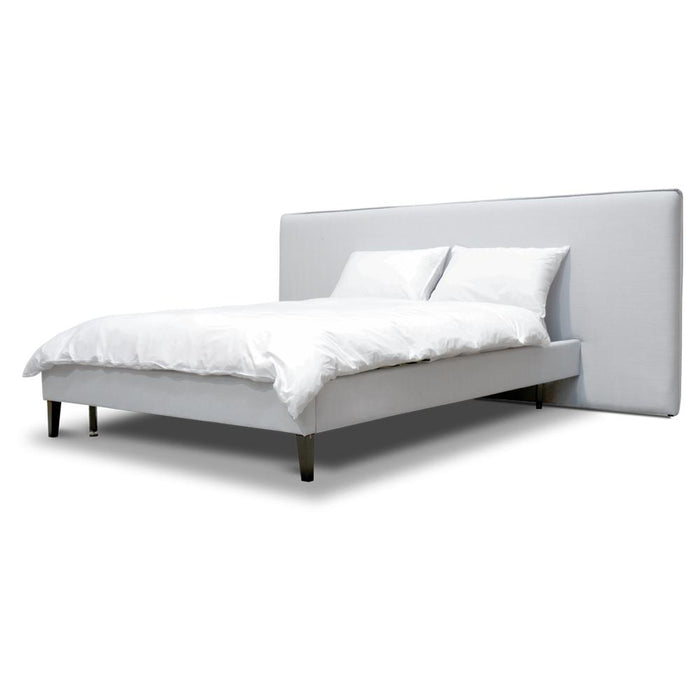 Jasper Wide Queen Bed Frame - Cement Grey
