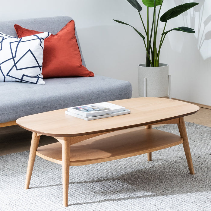 Johansen Scandinavian 109cm Rectangle Coffee Table - Natural