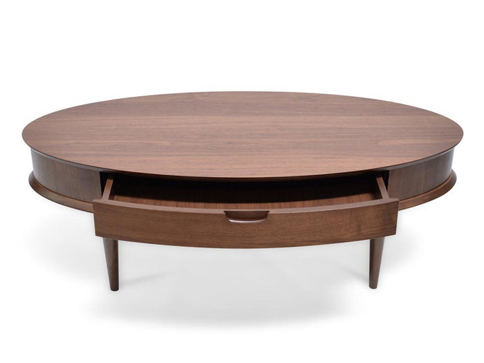 Johansen 116cm Coffee Table with Drawers - Walnut