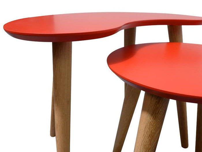 Johansen Nest of Side Tables -  Orange
