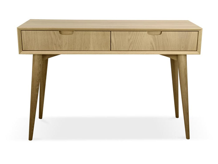 Johansen Scandinavian Wood Console Table with Drawers