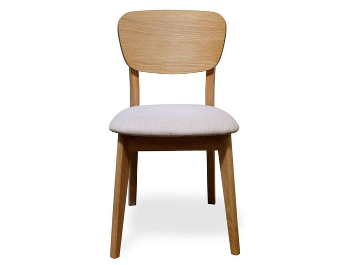 Johansen Veneer Dining Chair - Fabric Seat