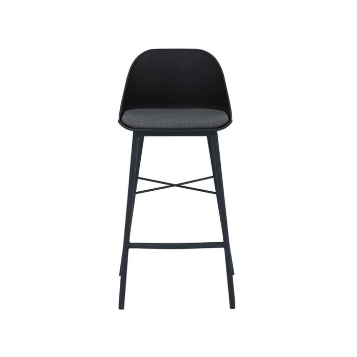 Jora Cushion Seat 69.5cm Bar Stool - Black