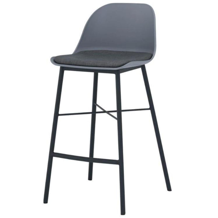 Jora Cushion Seat 69.5cm Bar Stool - Grey
