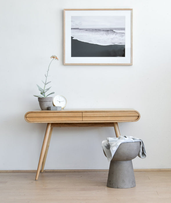 Joshua Narrow Wood Console Table- Natural
