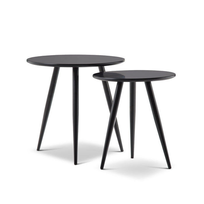 Kaia Nest Side Tables - Black