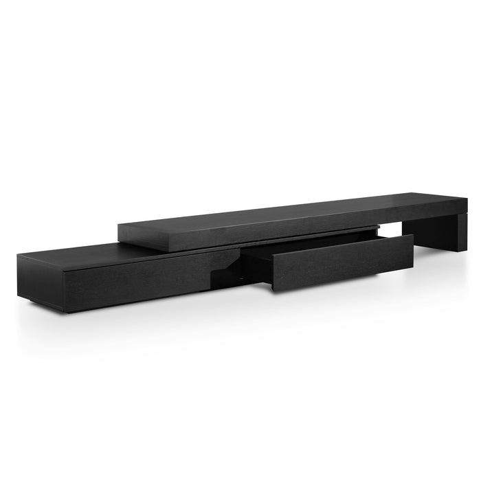 Katherine Extendable TV Entertainment Unit - Black Oak