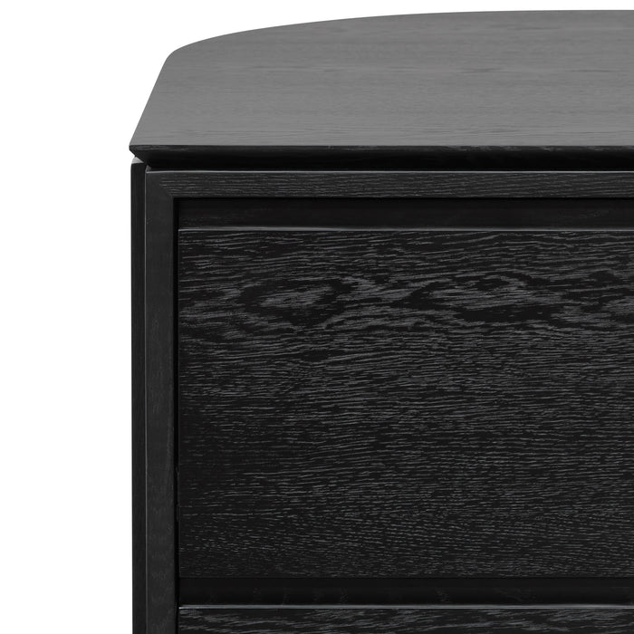 Katherine Wooden Reception Counter - Black Oak