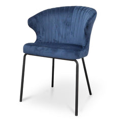 Kayla Dining Chair - Navy Blue Velvet