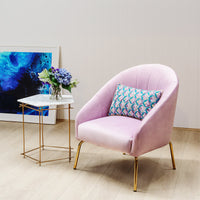 Kellie Armchair - Blush Velvet