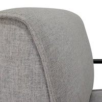 Ken Fabric Lounge Chair - Light Grey