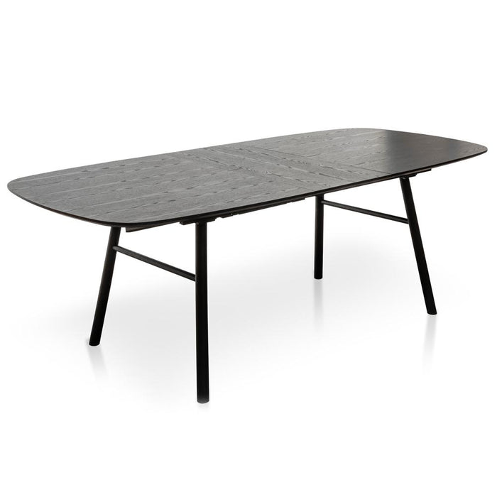 Kenny 6-8 Seater Extendable Dining Table 1.8-2.7m - Black Ash