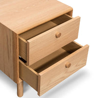 Kenston 2 Drawer Side Table - Oak