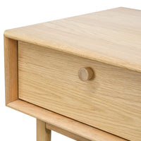 Kenston Lamp Side Table with Drawer - Natural