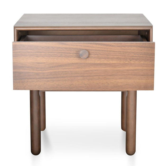 Kenston Lamp Side Table with Drawer - Walnut