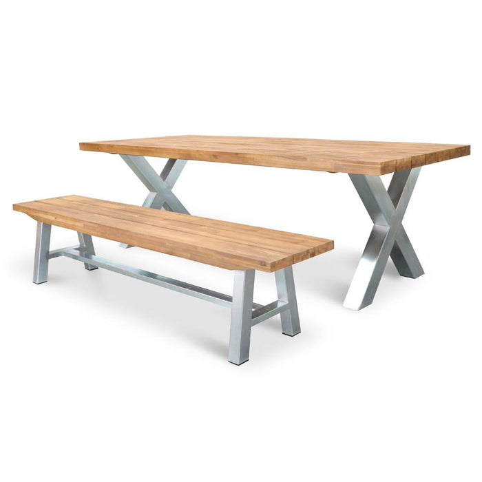Kent 2.5m Outdoor Dining Table - Galvanized
