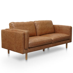 Klen 3 Seater Sofa - Tan Leather