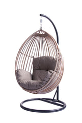 Koala Wicker Outdoor Hanging Egg Chair - Natural